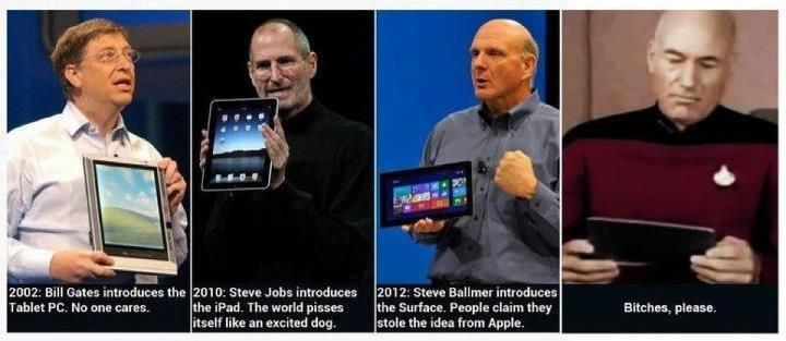 The Tablet PC, the iPad, the Surface ... but above all ...