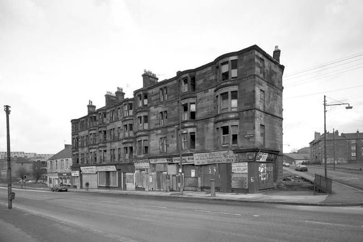 Maryhill Road at Shawpark Street - March 1978- Glasgow