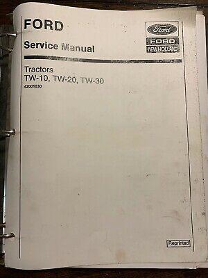 Ad Ebay Url Ford Tw10 Tw20 Tw30 Tractor Factory Service Repair Shop Manual Overhaul Repair Shop Tractors Repair