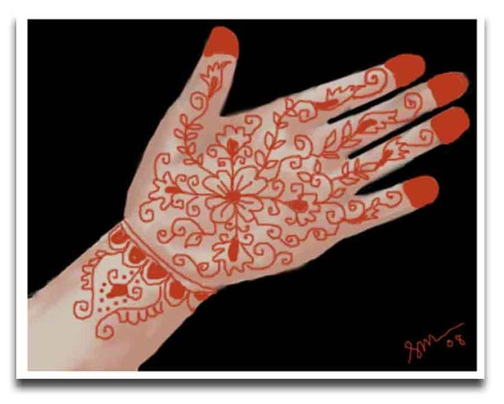 """mehendi-an indian art  """"Blood on her hands"""""""