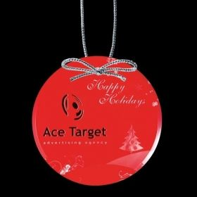 """Promotional Products Ideas That Work: VividPrint™ Ornament - Round 3½"""". Get yours at www.luscangroup.com"""