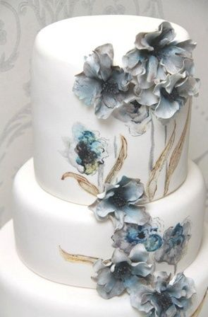 Beautiful hand painted cake. Love this! ...BTW,Please Check this out: http://artcaffeine.imobileappsys.com