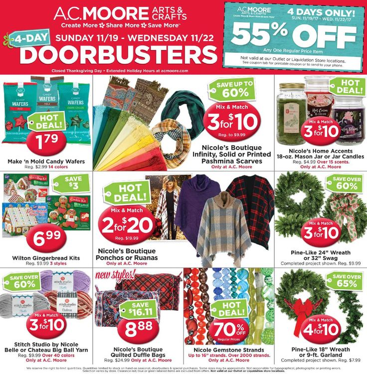 AC Moore Weekly Ad November 19 - 22, 2017 - http://www.olcatalog.com/home-garden/ac-moore-weekly-ad.html