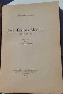 Paraíso del Libro Usado: José Toribio Medina, Armando Donoso