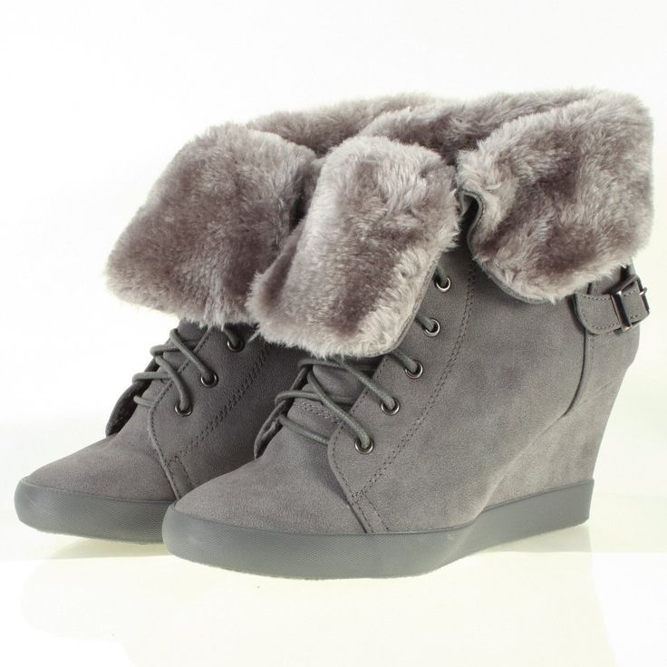http://www.shoebou.com/boots-c14/hi-top-boots-c26/odeon-leather-look-lace-up-wedge-fur-lined-hi-top-boots-grey-p151