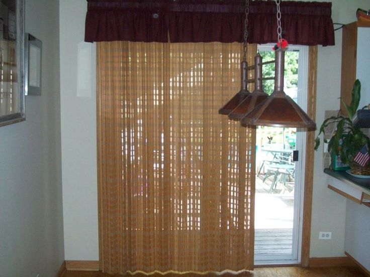 Sliding Woven Woods   Another Option For Sliding Glass Door Window Treatment