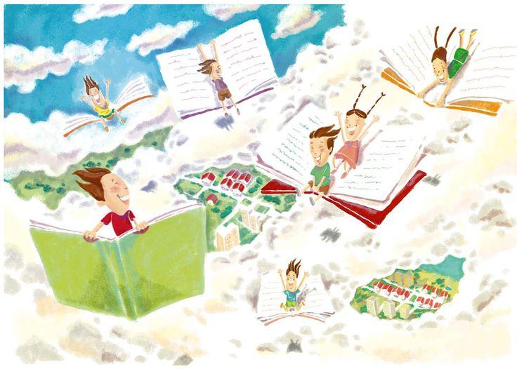 Children illustration #childrenillustration #fantasy #books #cloud #sky #illustration #fun