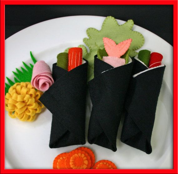 how to make felt sushi