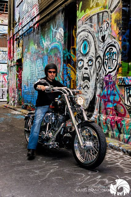 Compliments of Craig Francisco - Google+ Click Harley's and Hosier Lane here in Melbourne - Australia. Click through to see more of Craig's excellent photography