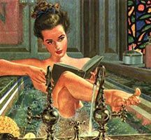 THAT RADICAL LIBRARIAN: E-Reading in the Bathtub? reading in the bathtub is my favorite