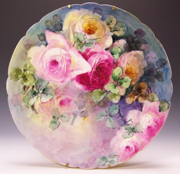 Gorgeous painted plate.