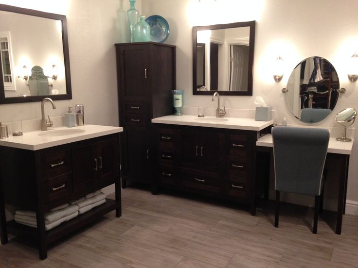 Featuring two elegant custom bathroom vanity pieces from our Alki  Collection matched with a freestanding linen. 11 best Custom Strasser Vanities images on Pinterest   Bathroom