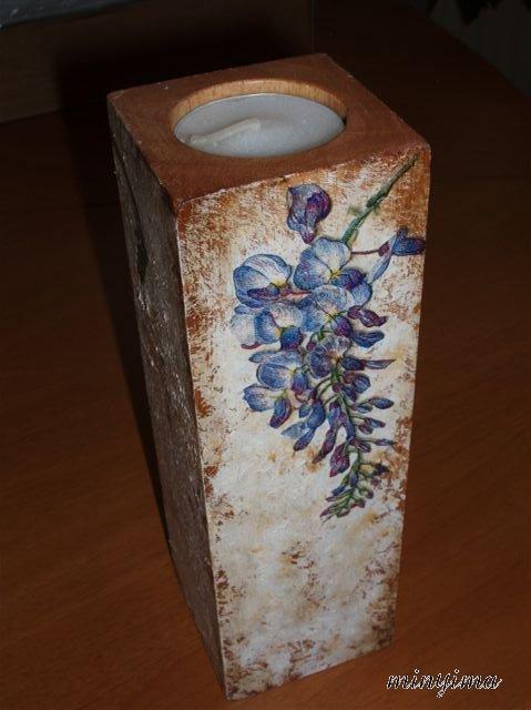 Handmade candle holder