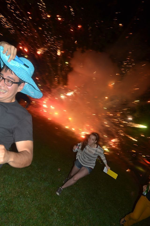 What happens when you accidentally shoot fireworks into a box of fireworks... - Imgur