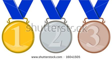 Medals with markings  #medals #retro #illustration