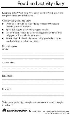 journal templates let s get healthy   exercise