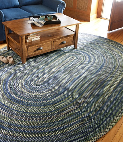 Bean S Braided Wool Rug Oval Indoor Rugs At L L Bean