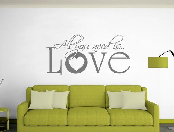 all you need is love quote wall sticker loving wall stickers rh pinterest com