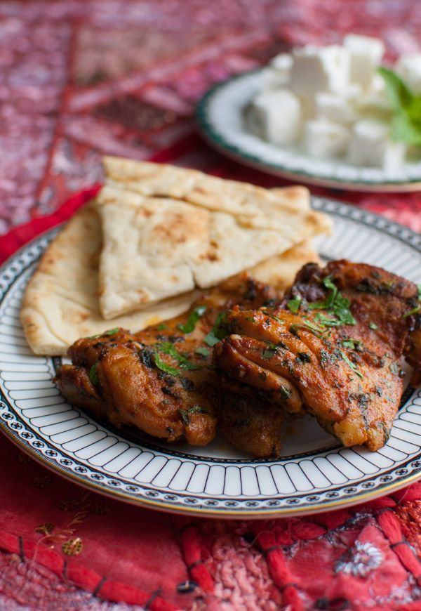 Moroccan Chicken - paprika and cumin add deep flavor to flavorful chicken thighs. Serve with warm pita or naan, feta, and mint for an easy Persian inspired meal.
