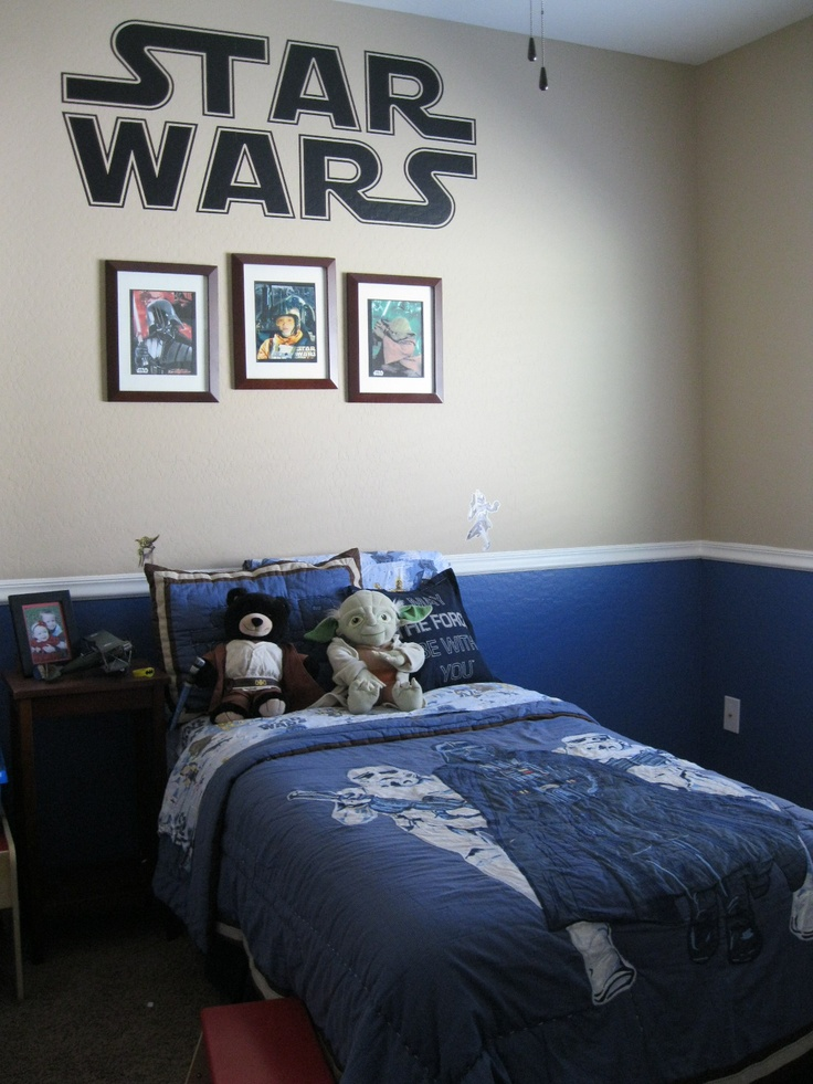 28 best boys teen room images on pinterest child room for Boys star wars bedroom ideas