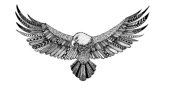 Resultado de imagen de simple eagle tattoo tumblr