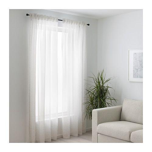 gardinenstore paar emmylina wei blumen gardinen. Black Bedroom Furniture Sets. Home Design Ideas