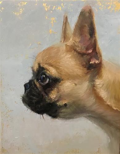 "Daily Paintworks - ""Looking out"" - Original Fine Art for Sale - © Regina Lyubovnaya"