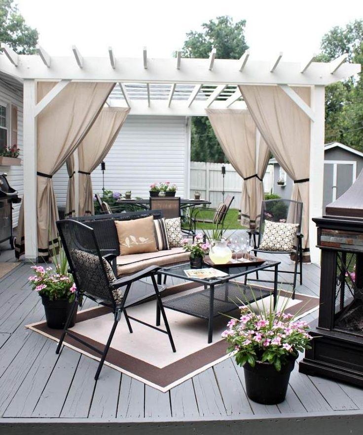 les 25 meilleures id es de la cat gorie rideaux de pergola sur pinterest rideaux pergola. Black Bedroom Furniture Sets. Home Design Ideas