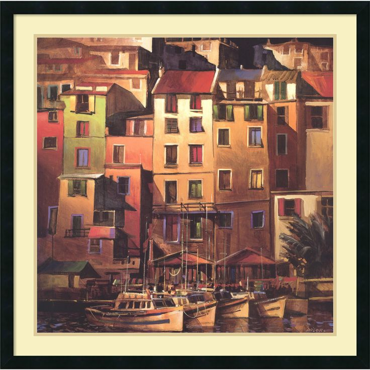 Michael O'Toole 'Mediterranean ' Framed Art Print 34 x 34-inch