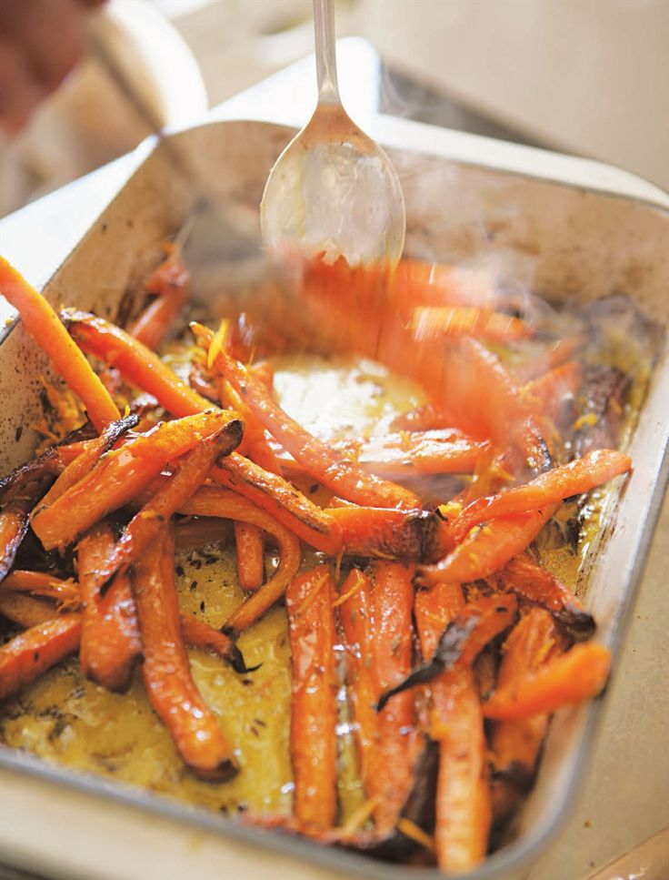Roast carrots with butter, cumin and orange recipe from River Cottage Every Day by Hugh Fearnley-Whittingstall | Cooked
