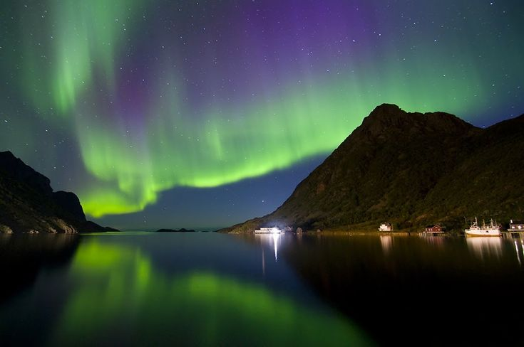 Northern Lights, Alaska; My dream vacation right now: a place with over 20 hours of darkness; clean, comfortable room with that can only accomodate my Pug companion and I.  Oh and 5 star food delivered at all hours.