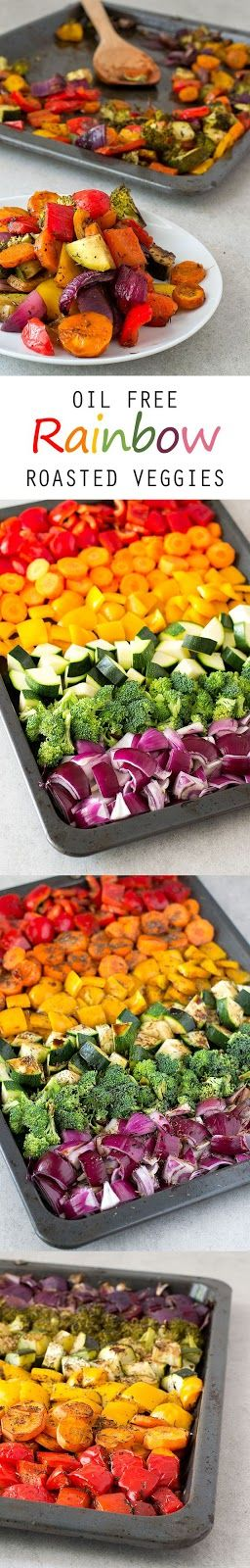 Oil Free Rainbow Roasted Vegetables - Recipes - Cooking Tip Of The Day
