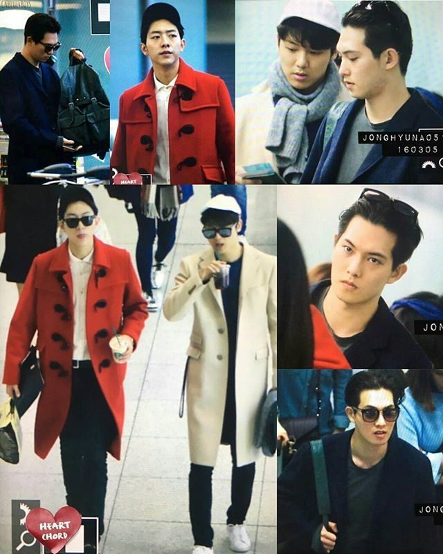 2016-03-05 #首爾仁川  #名古屋 JH, MH and JS are heading to #Nagoya from #Seoul ✈ Our models are going for Fan Meeting❤ but where is @jyheffect0622 ?  cr. JONGHYUNA0515, Heatchord, CNBLUE_SQUARE - #CNBLUE #씨엔블루 #BOICE #보이스 #CNBLUEHK #HKBOICE #鄭容和 #정용화 #JungYongHwa #李宗泫 #이종현 #LeeJongHyun #姜敏赫 #강민혁 #KangMinHyuk #李正信 #이정신 #LeeJungShin