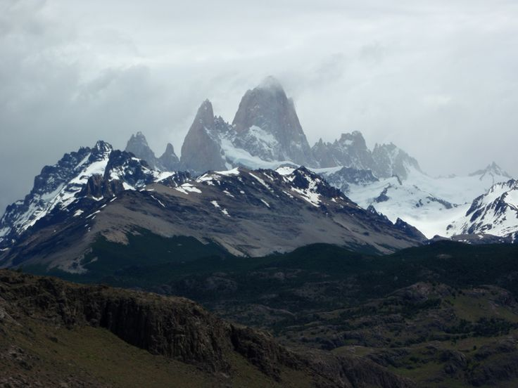 Macizo Ritz Roy cerca de El Chaltén en plena patagonia argentina