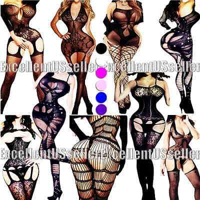 PLUS SIZE XS-6XL sexy fishnet bodystocking SUPER HOT dress NEW adult lingerie#M2