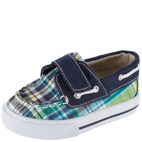 Boys Teeny Toes Boys Infant Plaid Boat Shoe Payless