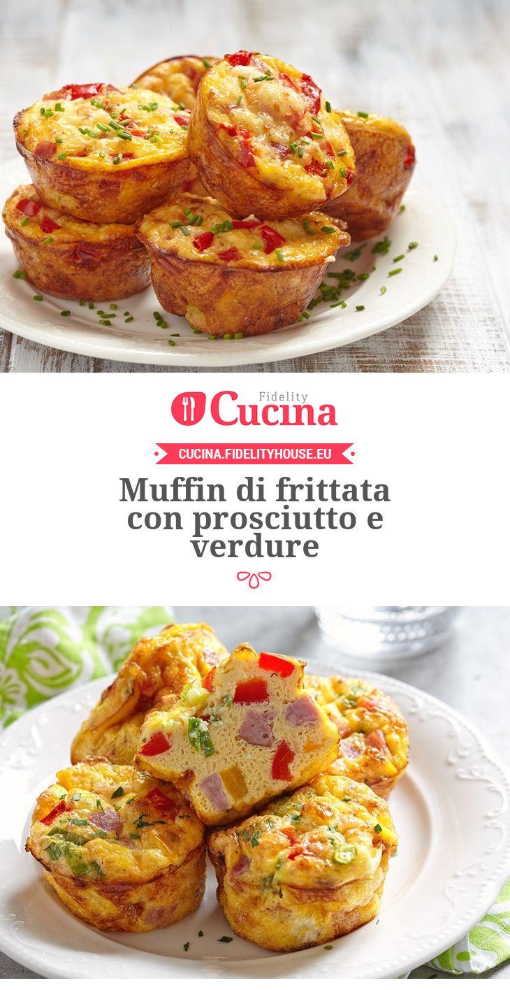 Muffin di frittata con prosciutto e verdure
