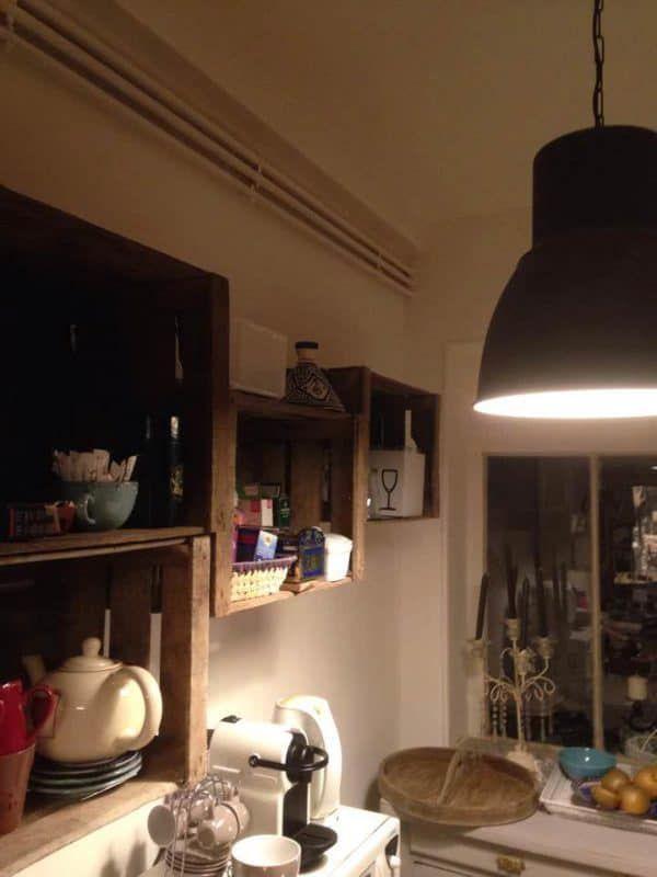 25+ Möglichkeiten zur Wiederverwendung alter Holzkisten in Ihrer Innenarchitektur Do-It-Yourself-Idee …   – kitchen