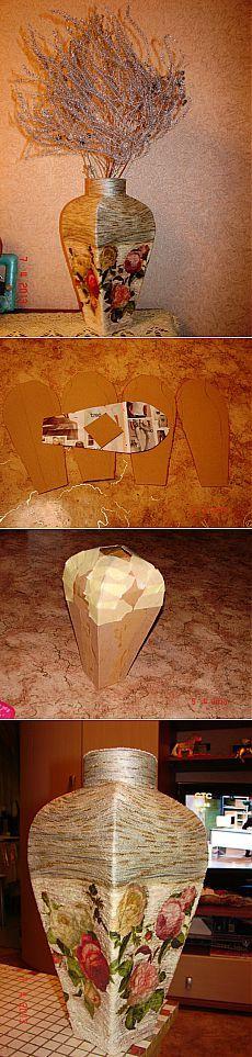 Vaso de papelão