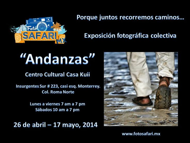 Ven a conocer las 60 fotografías pertenecientes a 30 autores. La exposición estará exhibiéndose hasta el 17 de mayo, 2014 en un horario de lunes a viernes de 7 a 7 y los sábados de 10 a 7 pm en el Centro Cultural Casa Kuii en Insurgentes sur 223 casi esquina Monterrey en la Colonia Roma.