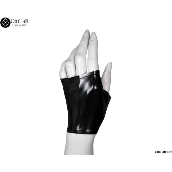 Fingerless Wrist Gloves (34 AUD) ❤ liked on Polyvore featuring accessories, gloves, fingerless gloves, latex gloves and knuckle gloves