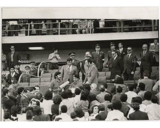 El homenaje a Eladio Rojas y Leonel Sánchez antes del partido.