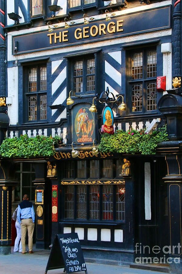 The George Pub - London, England (I just want to go to a place like this, have a few, and people watch.)