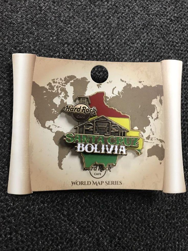 San Jose Monterey Map%0A Hard rock cafe santa cruz bolivia limited edition       d world map series  pin