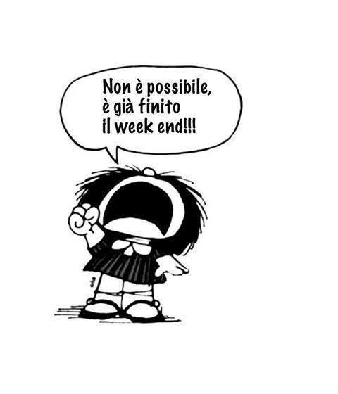 No week finito =(