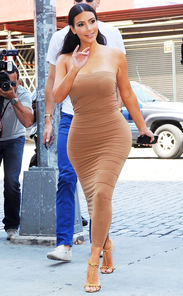 Kim Kardashian is a golden goddess in New York City!