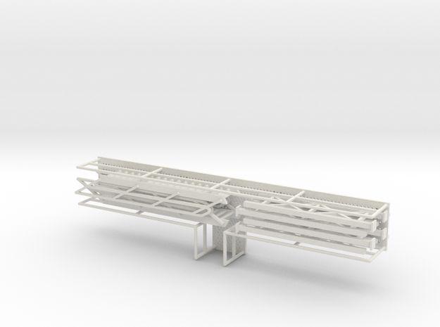 HO 1/87 Long Loading Platform for trailers 3d printed