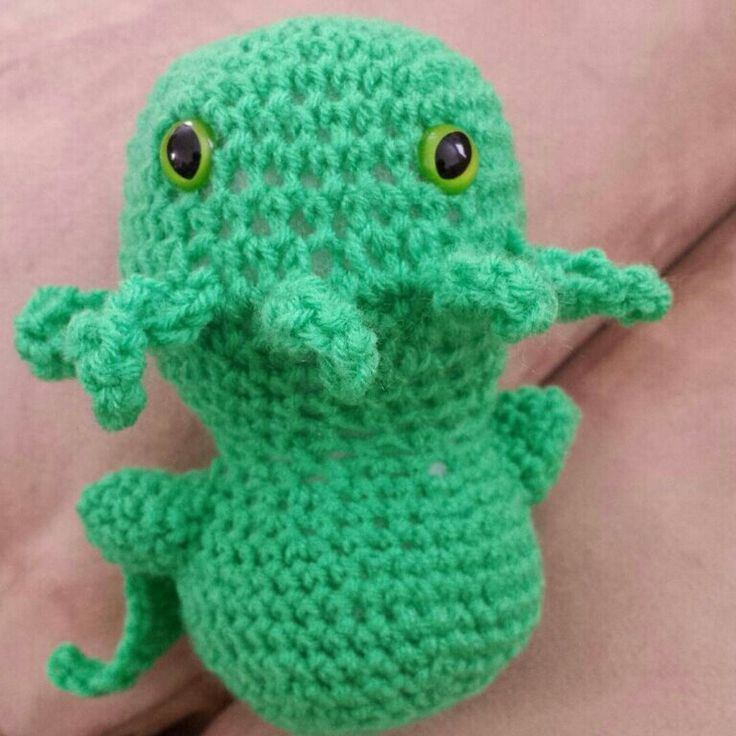 This sweet Baby Chthulu is excited to meet you!