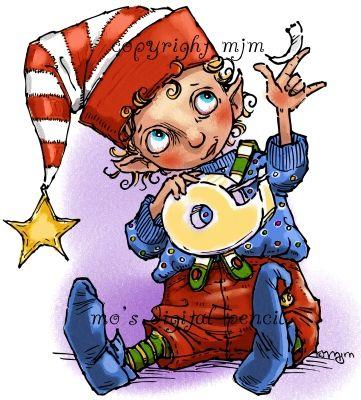 Mo's Digital Pencil - Santa's Little Helper, $4.00 (http://www.mosdigitalpencil.com/santas-little-helper/)