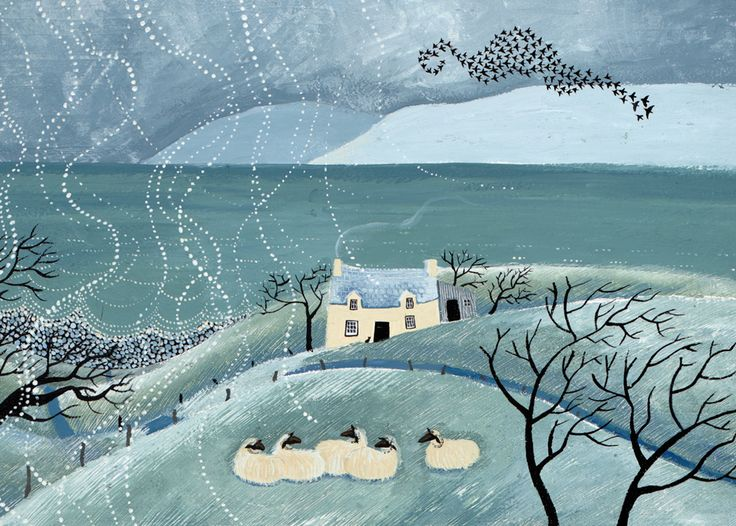 'Haven, By The Sea' By Painter Valeriane Leblond.  Blank Art Cards By Green Pebble. www.greenpebble.co.uk